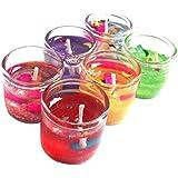 THIRTEENKCANDDLE Cute Little Glass Gel Candles Set Of 18