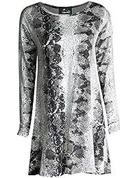 Fast Fashion - Swing Robe De Hanky Manches Longues, Plus La Taille Plaine - Femmes