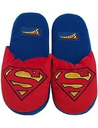 DC comics superman logo 3D plush chaussons