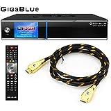 GigaBlue UHD Quad 4K ULTRA HD 2xDVB-S2 FBC E2 Linux Receiver + MG-Technik HDMI-Kabel V2.0 Gold