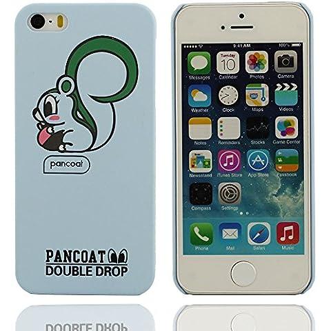 Patrón de diseño único ardilla de dibujos animados tapa dura cubierta de plástico Carcasa protectora case para Apple iPhone 5 5S