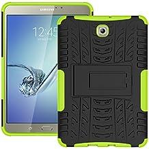 """KATUMO® Funda Galaxy Tab S2 8"""", Carcasa Funda Bumper Case para Samsung Galaxy Tab S2 8.0 pulgadas (T710 715) Carcasa Silicona Tapa Caso Cubierta Clear Cover(Resistente a los Arañazos)-Verde"""