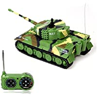 Atdoshop New Mini 1:72 49MHz R/C Radio Remote Control Tiger Tank 20M Kids Toy Gift Army (Green) - Compare prices on radiocontrollers.eu