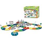 Pista del coche Eléctrico DIY Conjunto de Juguete para Niños,192 piezas
