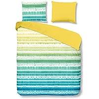 GOOD MORNING Juego De Funda Nórdica  Dye Azul / Verde / Amarillo 240 x 200/220 cm + 2/60 x 70 cm