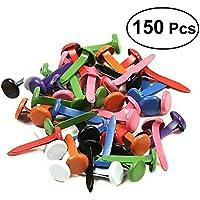 ROSENICE Mini Brads Colores surtidos Round Brad Pastel Brads para Scrapbooking Crafts Making Stamping y DIY 150 Unids