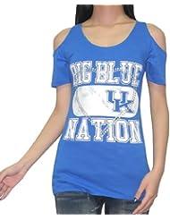 NCAA Kentucky Wildcats femmes Crew-Neck Off-The-Shoulder T-Shirt
