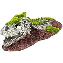 allpondsolutions - Figura Decorativa para Acuario con diseño de Dinosaurio y Esqueleto