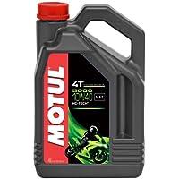 Motul 104056 5000 4T Huile pour moto à moteur 4 temps 10W-40 4L