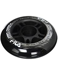 Fila Wheels 80 mm/82 a X 8 rollos, color negro