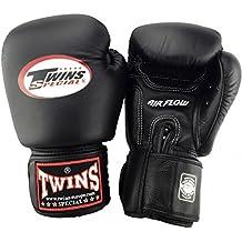 Twins Special BGVL-3–Guantes 3Air–Black–Guantes de boxeo MMA Kickboxing Sparring Muay Thai piel, color negro, tamaño small