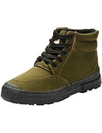 Dooxi Hommes Femmes Militaires Entraînement Sécurité Chaussure Leisure  Antidérapant Travail Randonnée Chaussures De ... 00c17731d564