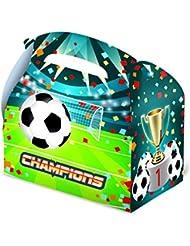 Caja cartón vacía fútbol