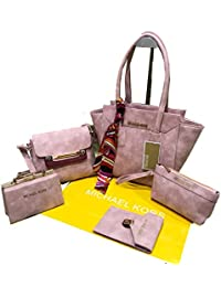 MICHAEL KORS Combo Handbag For Woman Branded | MK Set Of 5 Handbag,Sling Bag,Wallet,Shoulder Bag & Coin Pouch|...