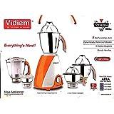 Vidiem Vtron Vitta 516 A 750-Watt Mixer Grinder with 5 Jars (White/Orange)