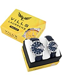 Vills Laurrens Pack Of 2 Day And Date Analogue Couple Watch For Men And Women (VL-1093+7028)