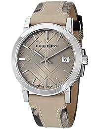 BURBERRY BU9021 - Reloj para hombres, correa de cuero color beige