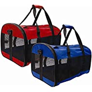ITP Collapsible Pet Carrier Mesh Cat Dog Carrying Handle Red or Blue