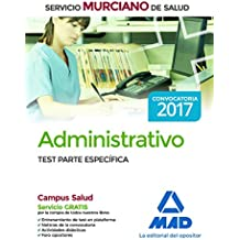 Administrativo del Servicio Murciano de Salud. Test parte específica
