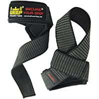Deluxe Classic Heavy Duty Neoprene Padded Weight Lifting Straps, with Cotton Coated Rubber on One Side ★EXTRA CUSHION★ At the ✔Carpal Tunnel ✔For Wrist Comfort & Optimal Power Lifting - Best Weightlifting Strap That Enhance Your Grip. Strong Enough for Your Heavy Duty Pro Bodybuilding Dead Lifting for Men & Women Size (L 21.5 inch x W 1.5 inch). Life Time Warranty!!!!