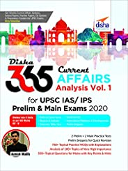 Disha 365 Current Affairs Analysis Vol. 1 for UPSC IAS/ IPS Prelim & Main Exams