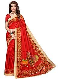 Traditional Fashion Women's Kalamkari Design Khaddi Silk Saree With Blouse Piece-TFS1961_TF