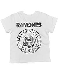 LaMAGLIERIA Camiseta para bebés Ramones Grunge Black Print - Camiseta para bebés 100% Algodon