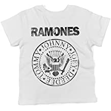 LaMAGLIERIA Camiseta Para Bebés Ramones Grunge Black Print - Baby t-Shirt 100% Algodon