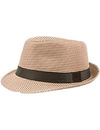 Cowboy Rhombus Straw Hat with Black Ribbon on Brim