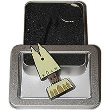 Souvenir Köln | Geschenkidee: USB-Stick mit Schlüsselanhänger in Form des Kölner Doms für Frauen & Männer | inklusive Fotogalerie von Kölner Sehenswürdigkeiten | Memory Stick 8 GB | CultourStix