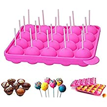 newthinking 20 de silicona bandeja Pop Cake Stick mould- Lollipop partido de utensilios para hornear