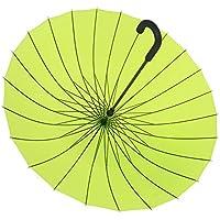 BBSLT Ombrelloni da manuale 24, acqua fiore solido gancio ombrello creativo color caramella femminile letteraria pulito lungo ombrello , green
