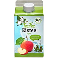 TeeFee Bio Eistee Apfel, 8er Pack (8 x 500ml) | zuckerfrei | ohne Kalorien | kalter Tee für Klein und Groß