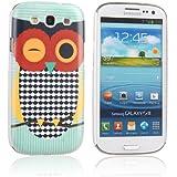 tinxi® harte Schutzhülle für Samsung Galaxy S3 i9300 hard Schutz case cover Hülle Rückschale Etui Skin mit Eule Owl in Grün