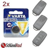 2x VARTA Autoschlüssel Batterie für VW Golf Jetta Passat Polo Tiguan Seat Skoda
