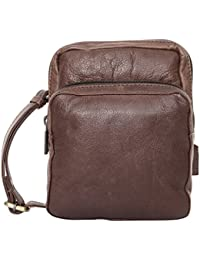Leather Culture Genuine Leather Unisex Sling Bag (Brown, WB_168_Chocolate)