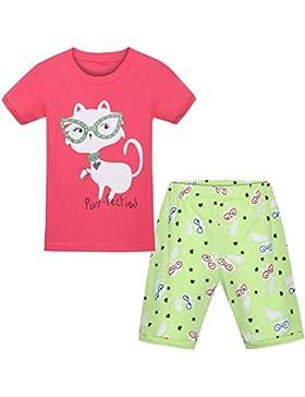HOYMN - Pijama - Cuello redondo - Manga corta - para niña