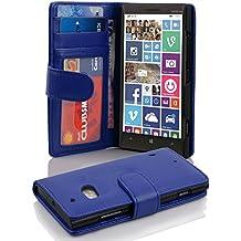 Cadorabo - Funda Nokia Lumia 930 / 929 Book Style de Cuero Sintético en Diseño Libro - Etui Case Cover Carcasa Caja Protección con Tarjetero en AZUL-REAL