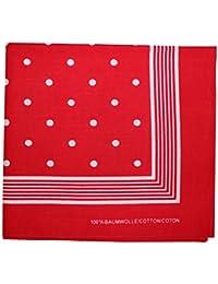 Tobeni 000803 Bandana Kopftuch Halstuch Nickituch mit Punkte in 100 Baumwolle für Damen und Herren