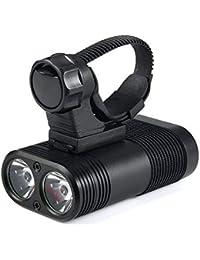 Fahrradlicht LED, Nourich Fahrradscheinwerfer Set, Nourich Wasserdicht Fahrradleuchte Fahrradbeleuchtung,Fahrradlampe Scheinwerfer,Aufladbare Fahrradlichter Camping Angeln Wandern (schwarz)