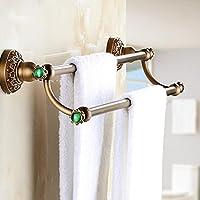 XXTT-Continentale antico rame doppia porta asciugamani, annata
