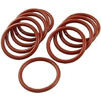 sourcingmap® 10 Pezzi Silicone Plastico O-Ring Rondella
