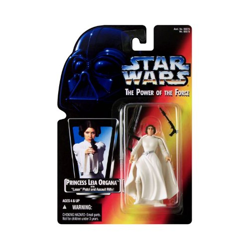 Star Wars Year 1995 The Power of the Force 4 Inch Tall Action Figure - Princess LEIA ORGANA with ``Laser`` Pistol and Assault Rifle