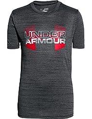 Under Armour T-shirt hybride à manches courtes de fitness pour garçon Gros emblème