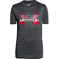 Under Armour Mgalietta fitness da ragazzo con logo, Ragazzo, Fitness T-Shirt und Tank Big Logo Hybrid Short Sleeve T, nero, XL
