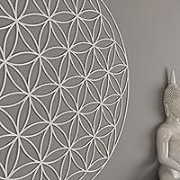 HomeArtDecor | Arte de Muraria Fiore della Vita | Cloruro di polivinile di Alta Qualità | Decorazione dell'ufficio | Decorazione domestica | Facile da applicare | Fresatura | Fretwork | Reticolo