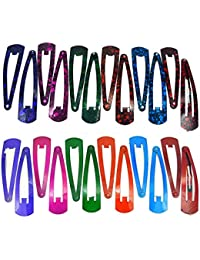 Fida Arts Daily Use Multi Color Metal Triangular Tic Tak Hair Clips For Girls And Women (Combo Of 12 Multi Color...