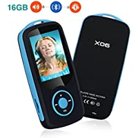 mp3 reproductor bluetooth YIKALU 16GB reproductor de música mp3 reproductor lector fm