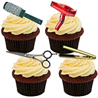 Decoración comestible de peluquería para tartas y cupcakes, ...