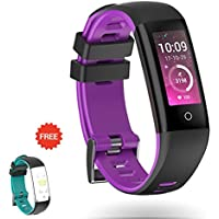 Fitness Tracker ARANEE-MIMO Schermo a colori Sport Band Smart Wristband Bracelet Impermeabile Bluetooth Activity Frequenza cardiaca Sonno Monitor Pedometro sport band per IOS e Android